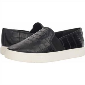 Vince Blair Black Croc Embossed Sneaker